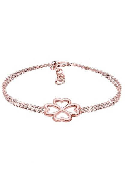 Armbaender für Frauen - Armband 'Kleeblatt' › ELLI › rosegold  - Onlineshop ABOUT YOU