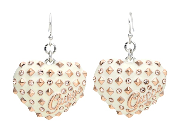 Ohrringe für Frauen - GUESS Ohrringe 'UBE11215' rosegold perlweiß  - Onlineshop ABOUT YOU