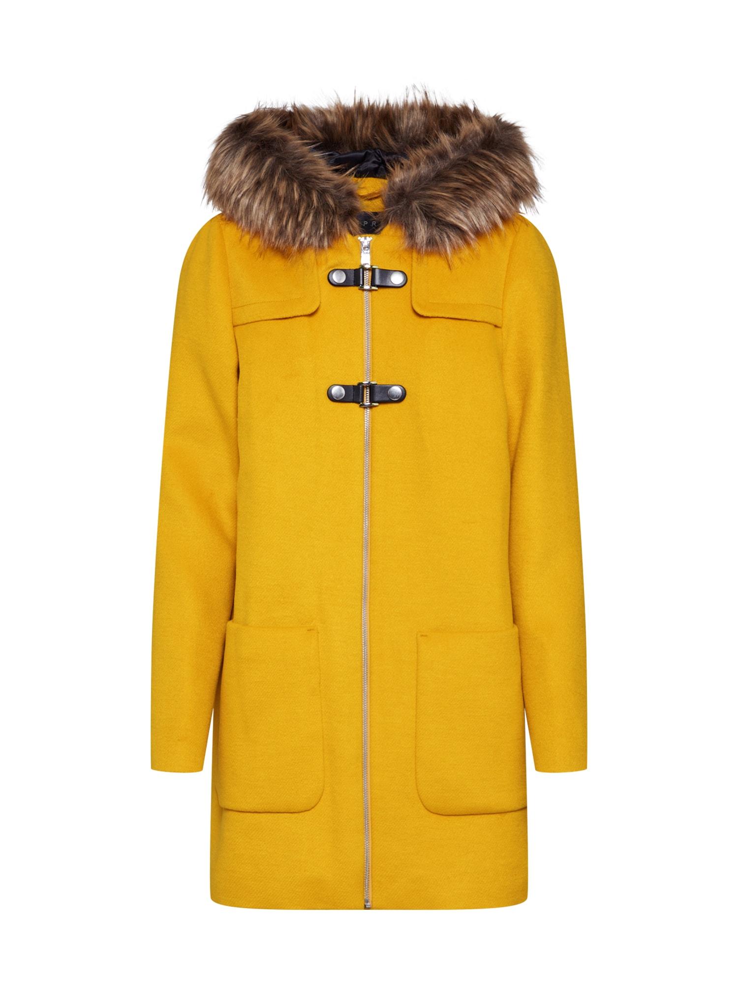 Esprit Collection Žieminis paltas garstyčių spalva