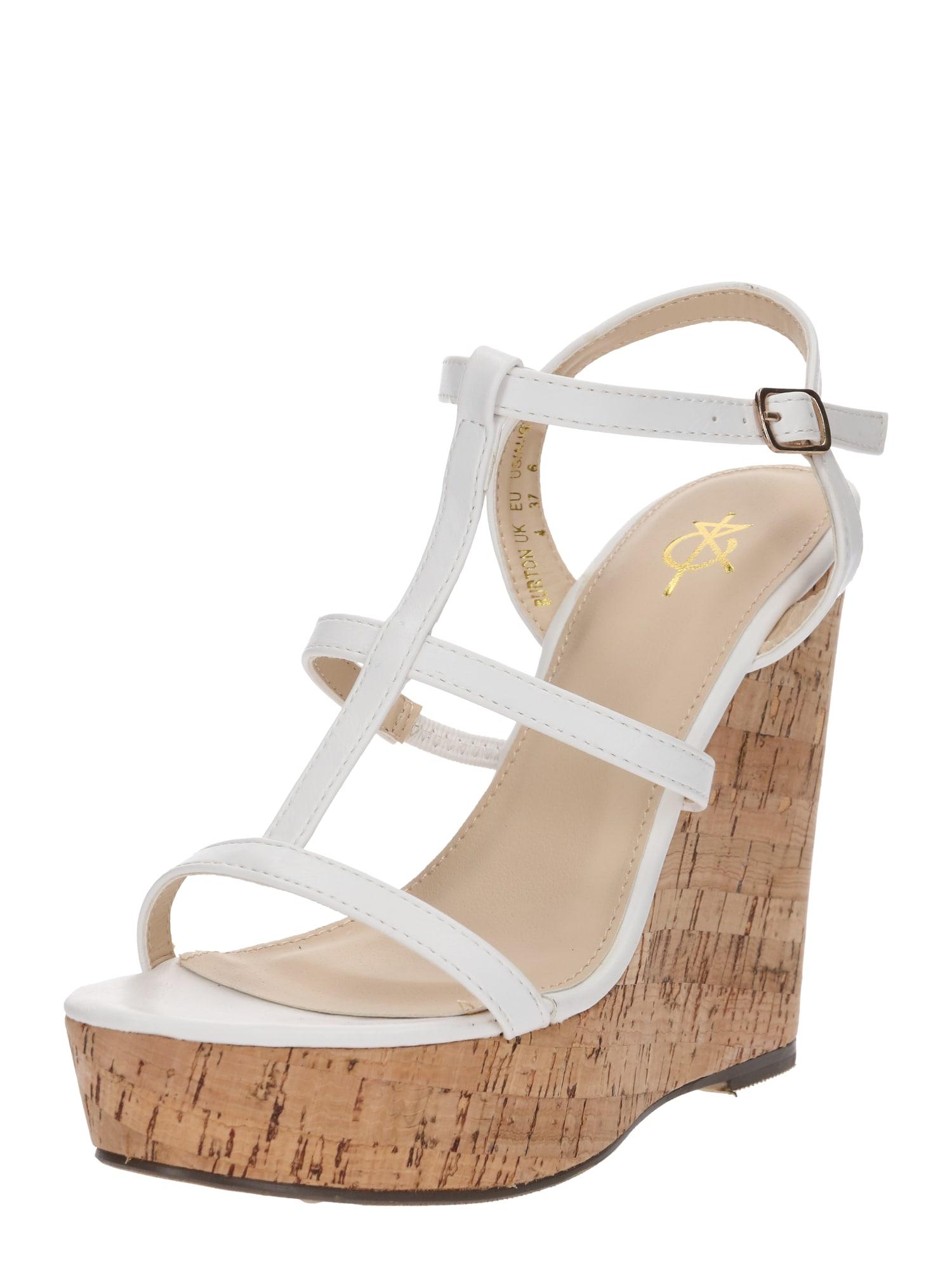Páskové sandály bílá 4th & Reckless