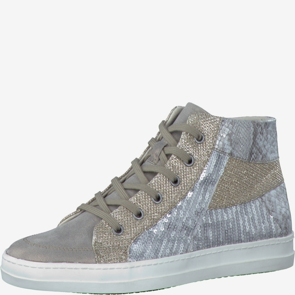 tamaris sneaker 39 high 39 in gold silber about you. Black Bedroom Furniture Sets. Home Design Ideas