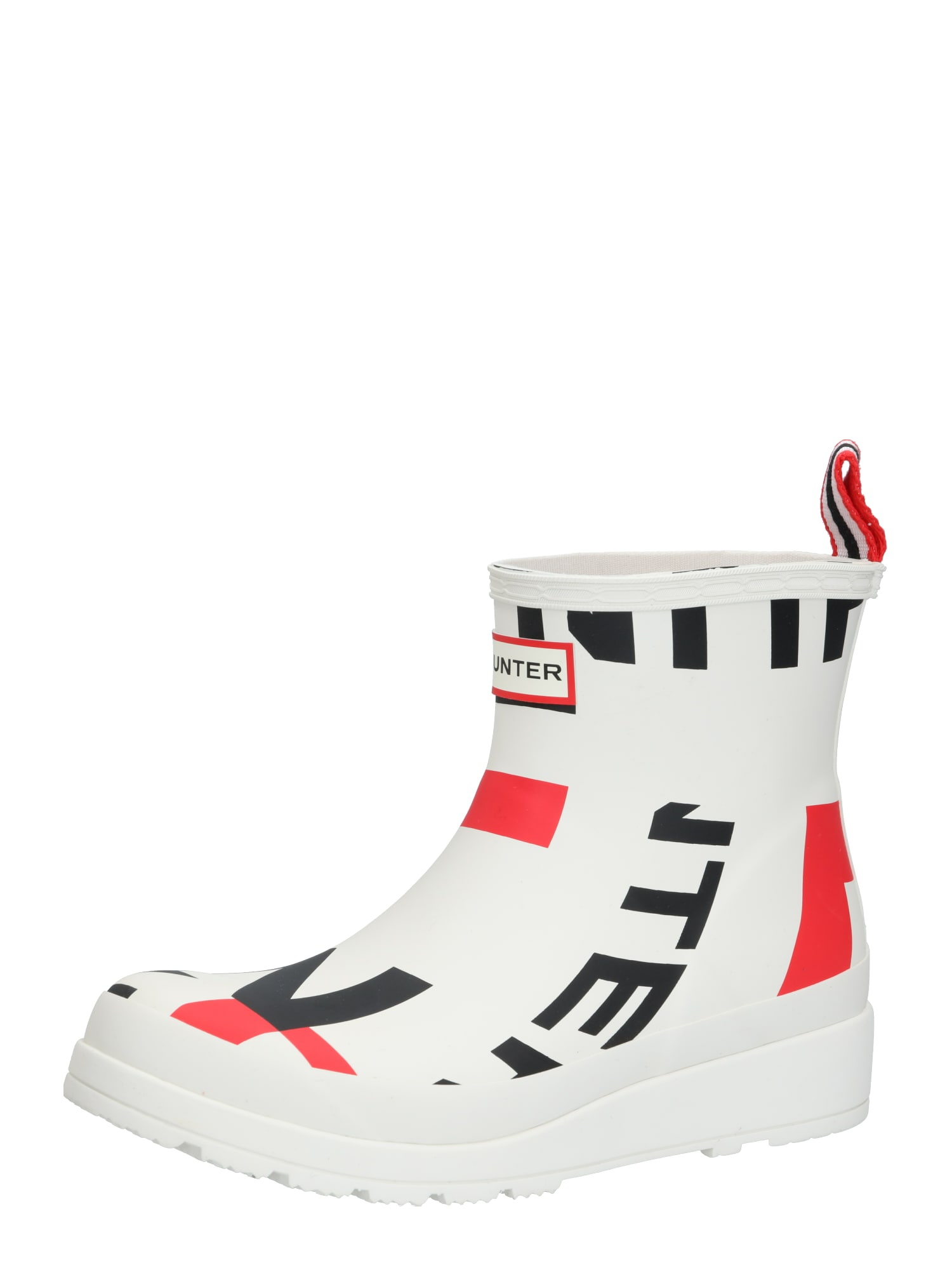 HUNTER Guminiai batai raudona / balta / mėlyna