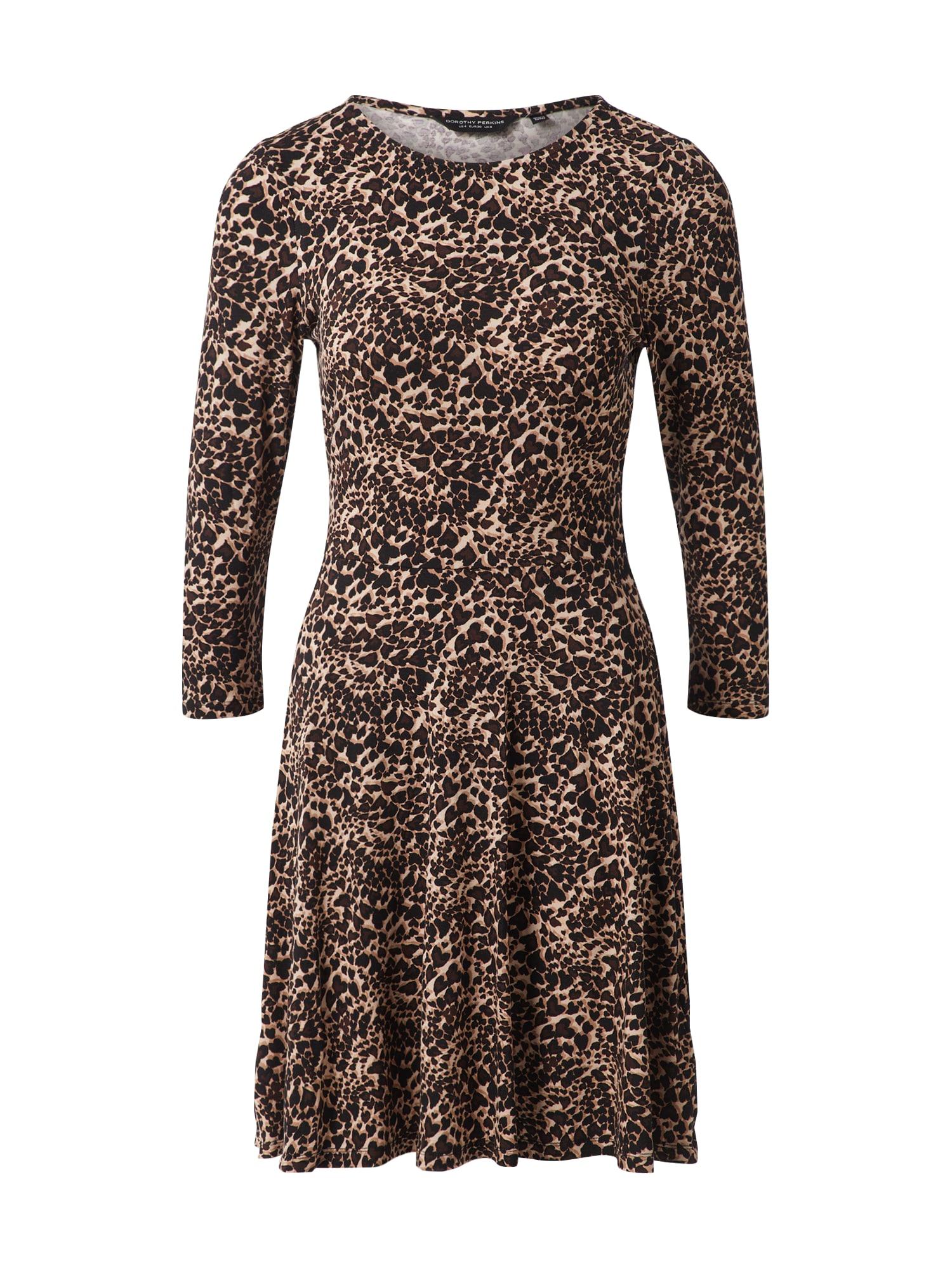 Dorothy Perkins Suknelė juoda / ruda