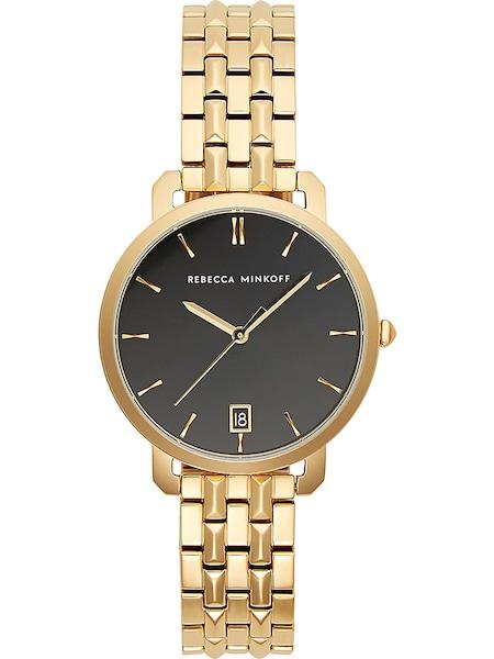 Uhren für Frauen - Rebecca Minkoff Uhr 'Billie 2200215' gold schwarz weißmeliert  - Onlineshop ABOUT YOU