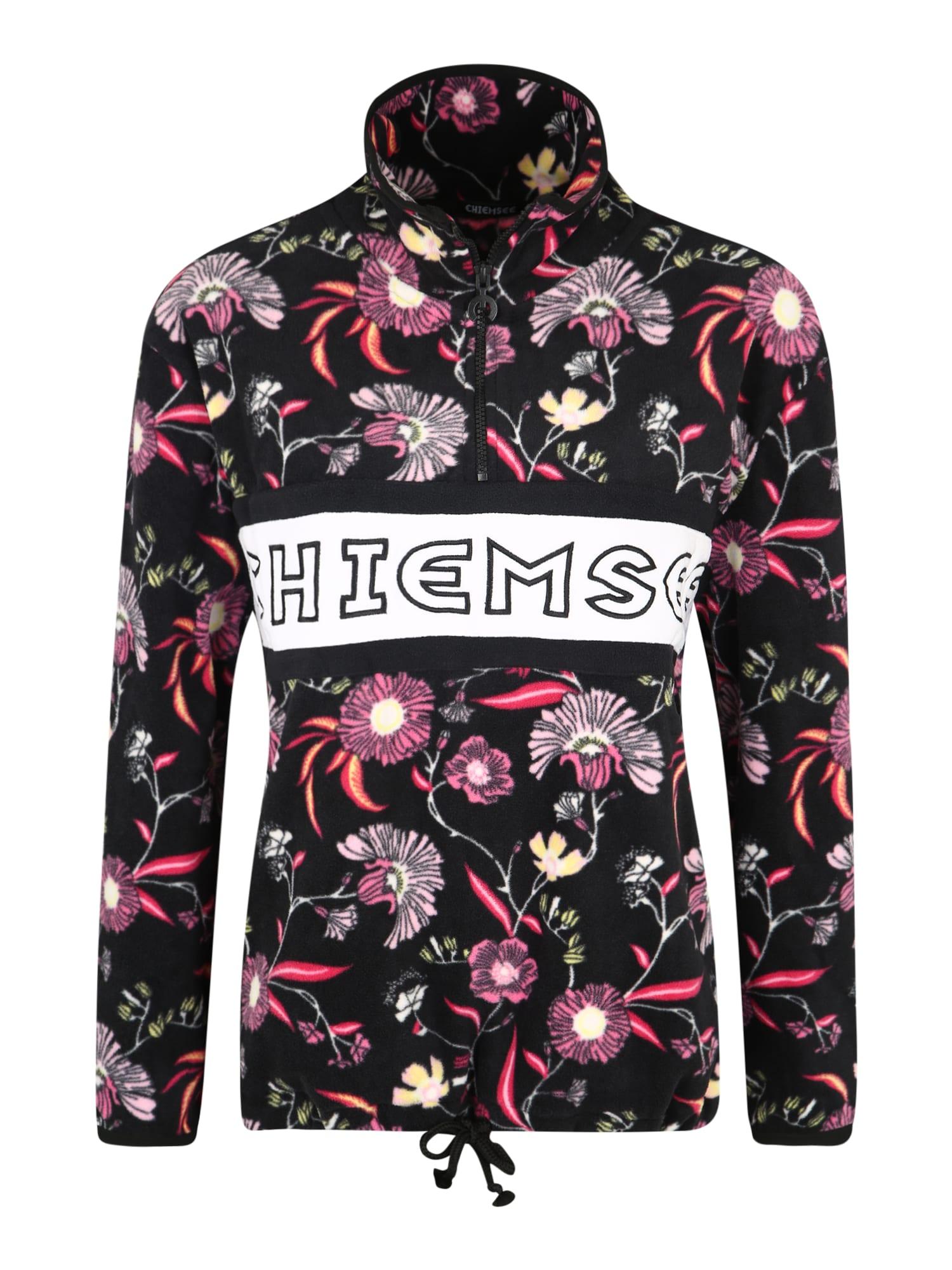 CHIEMSEE Sportinio tipo megztinis rožinė / juoda