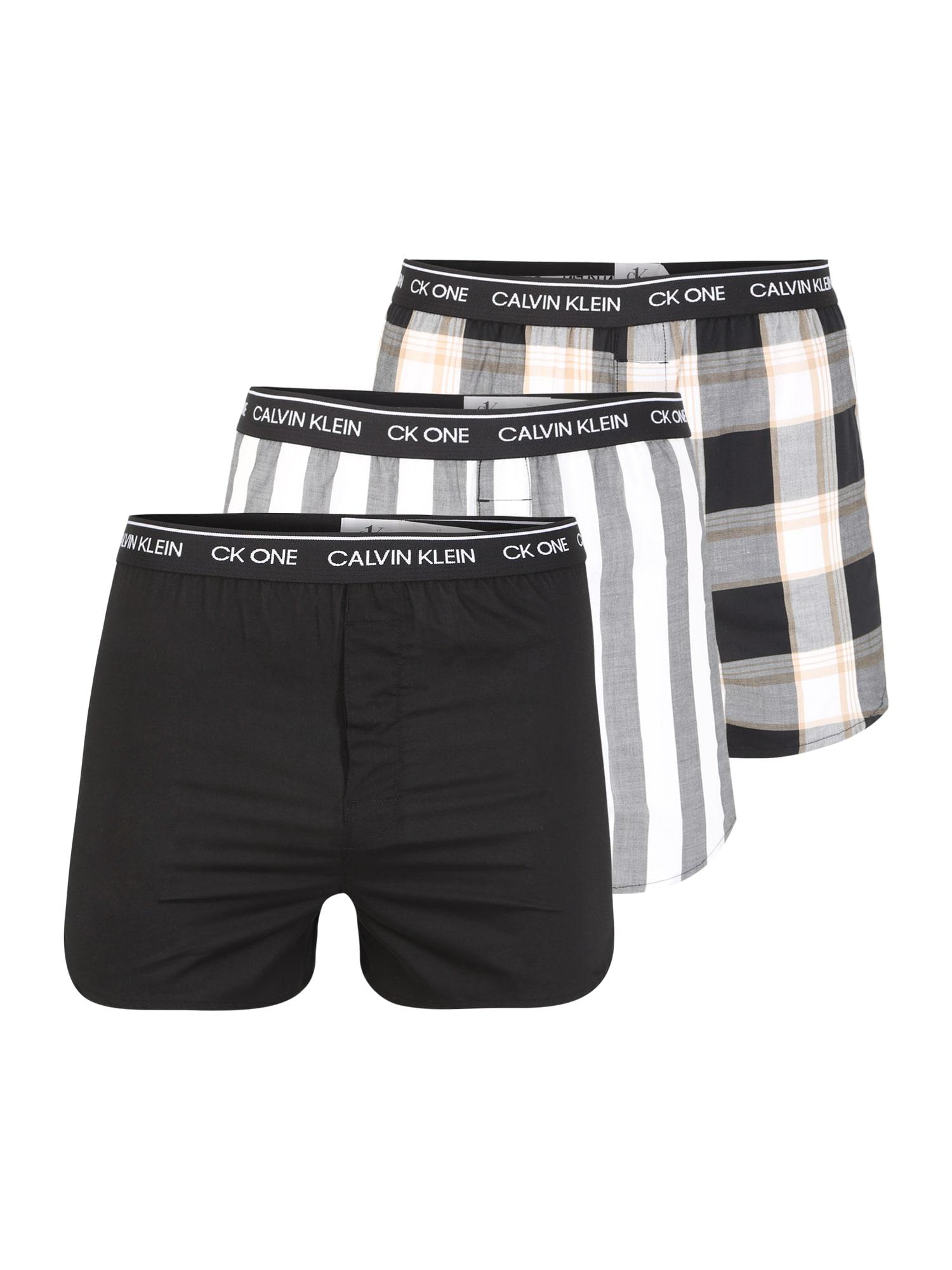 Calvin Klein Underwear Boxer trumpikės juoda / pilka