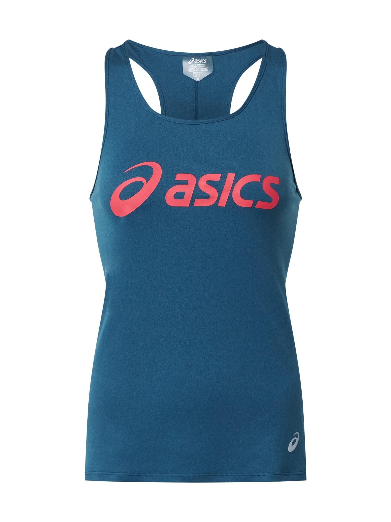 ASICS Sportovní top 'SILVER'  pink / modrá