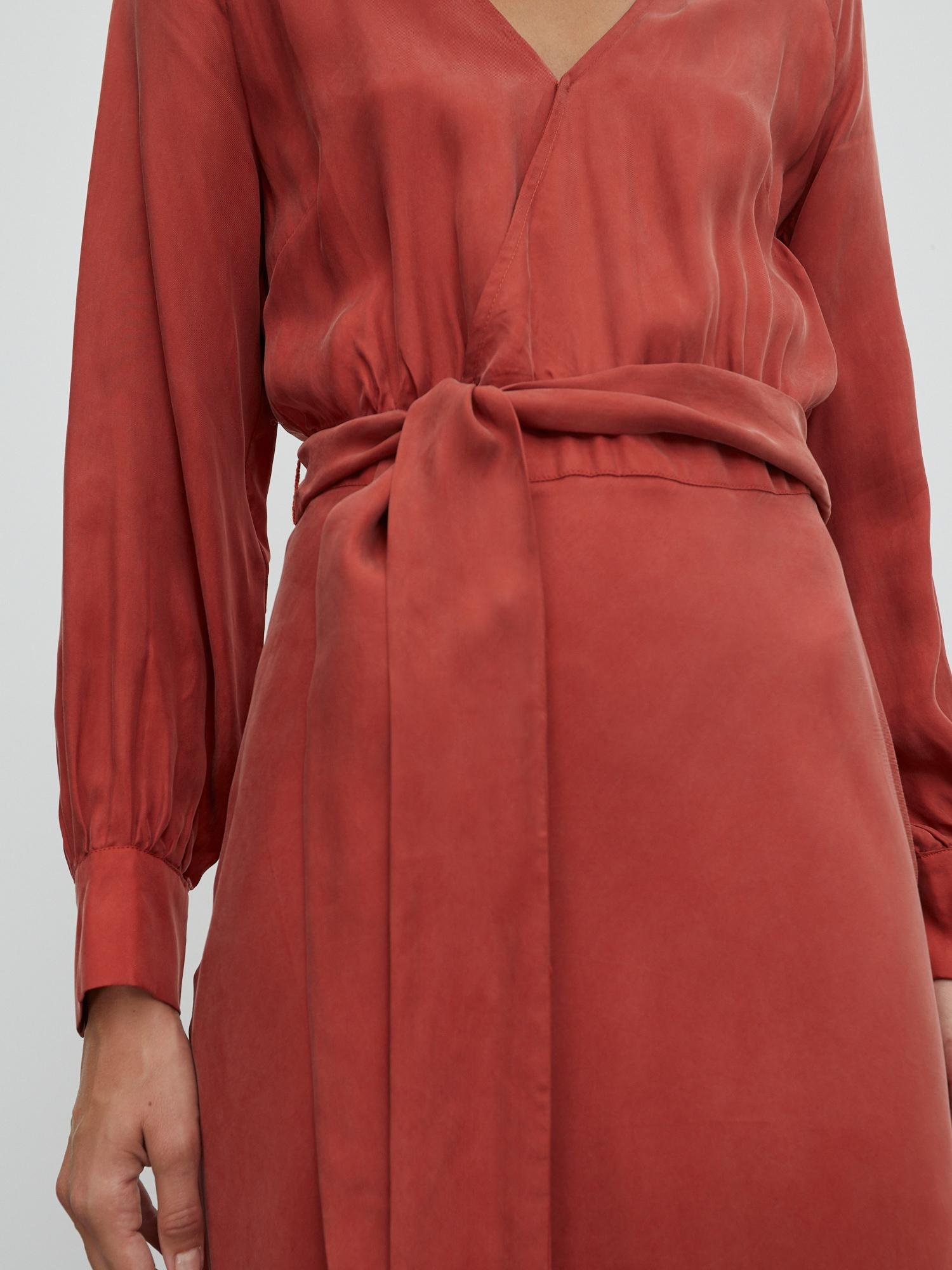 EDITED Šaty 'Alencia'  oranžovo červená.
