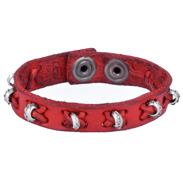 Armbaender für Frauen - Campomaggi Armband rot silber  - Onlineshop ABOUT YOU