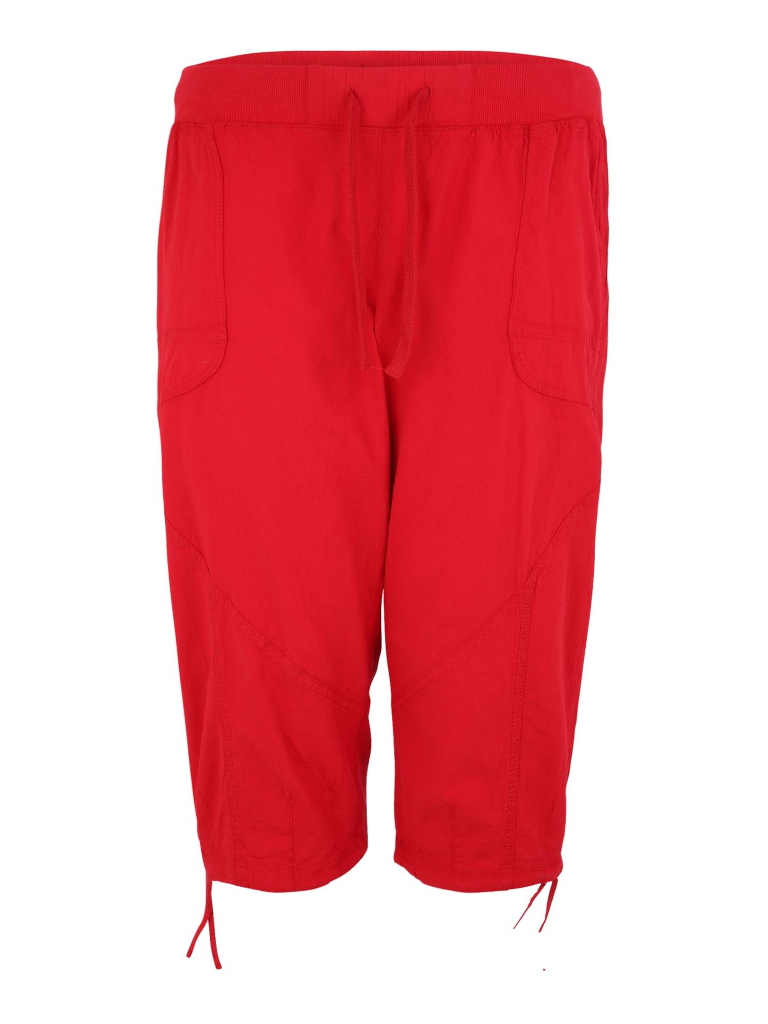 Kalhoty MMARRAKESH červená Zizzi