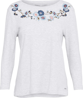 TOM TAILOR DENIM Shirt 'Embroidered Tee'