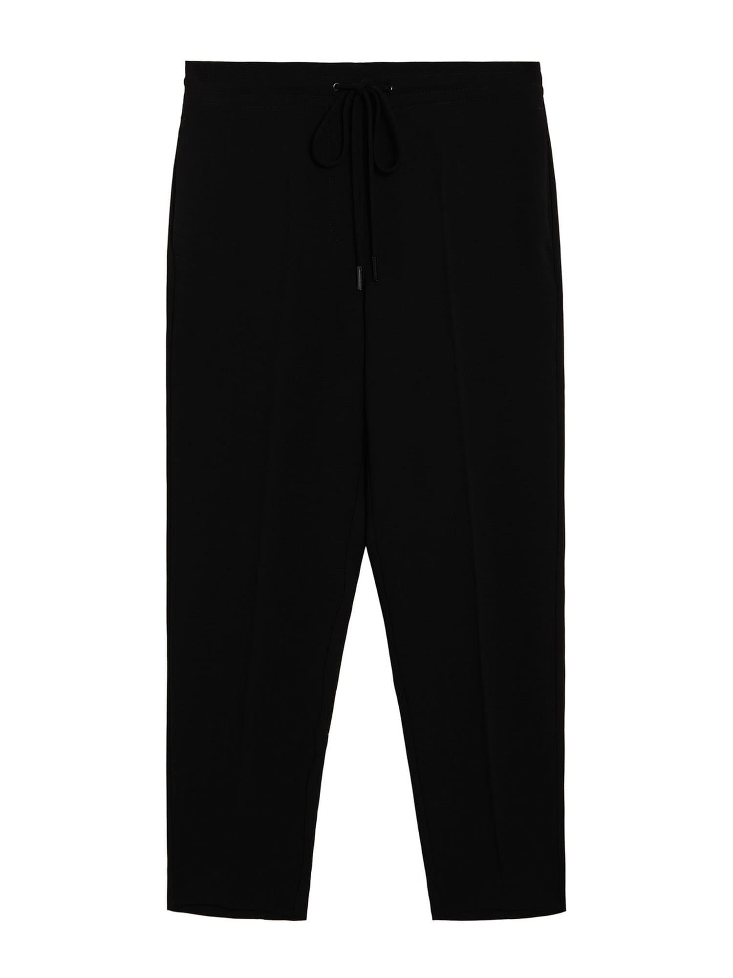 MANGO Kalhoty 'Semiflu'  černá