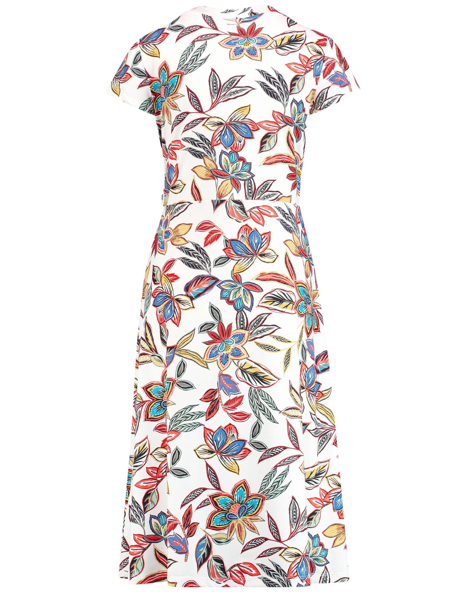 taifun - Kleid Gewirke Sommerkleid mit Blumen-Print