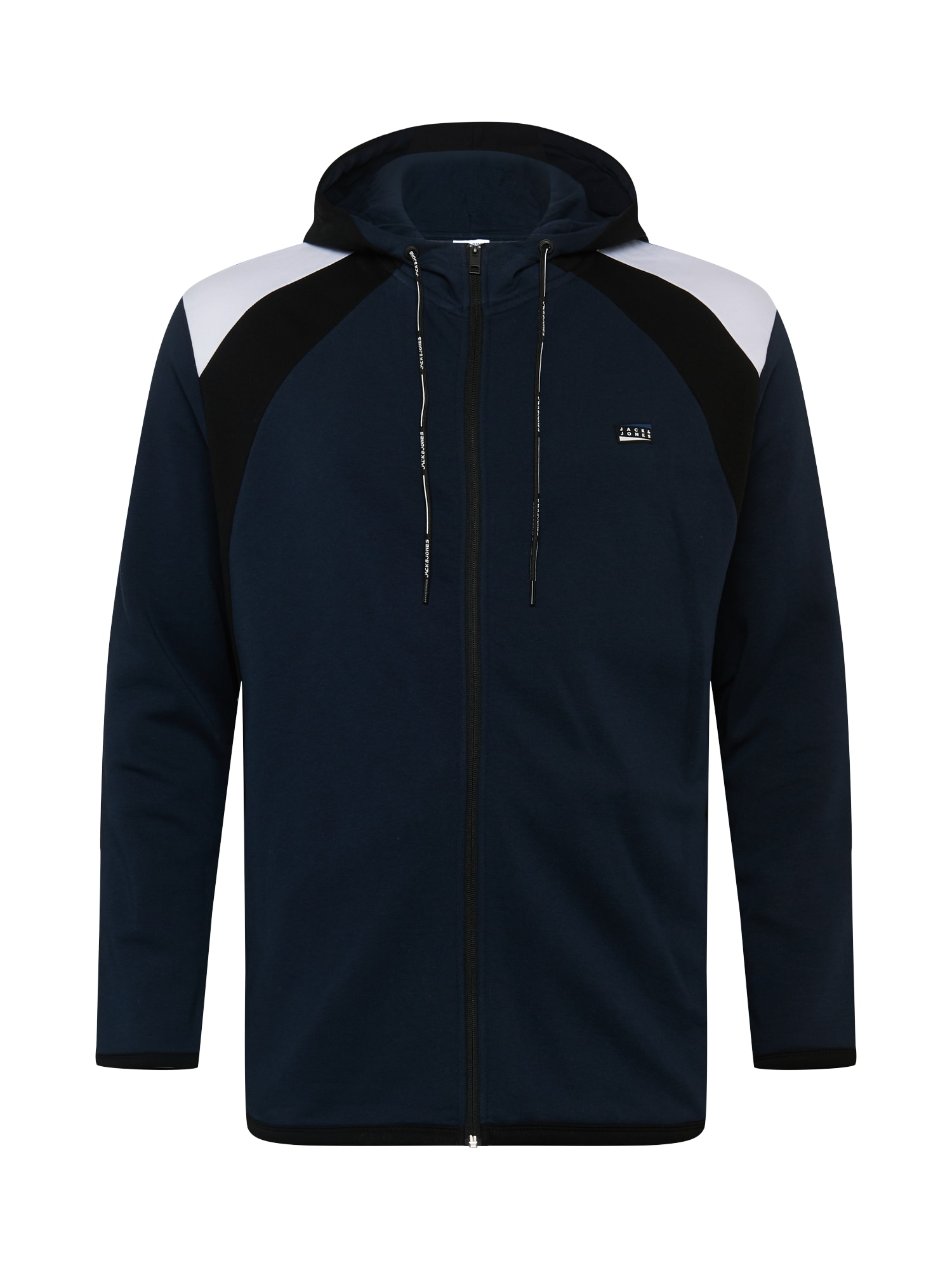 Jack & Jones Plus Džemperis juoda / nakties mėlyna / balta