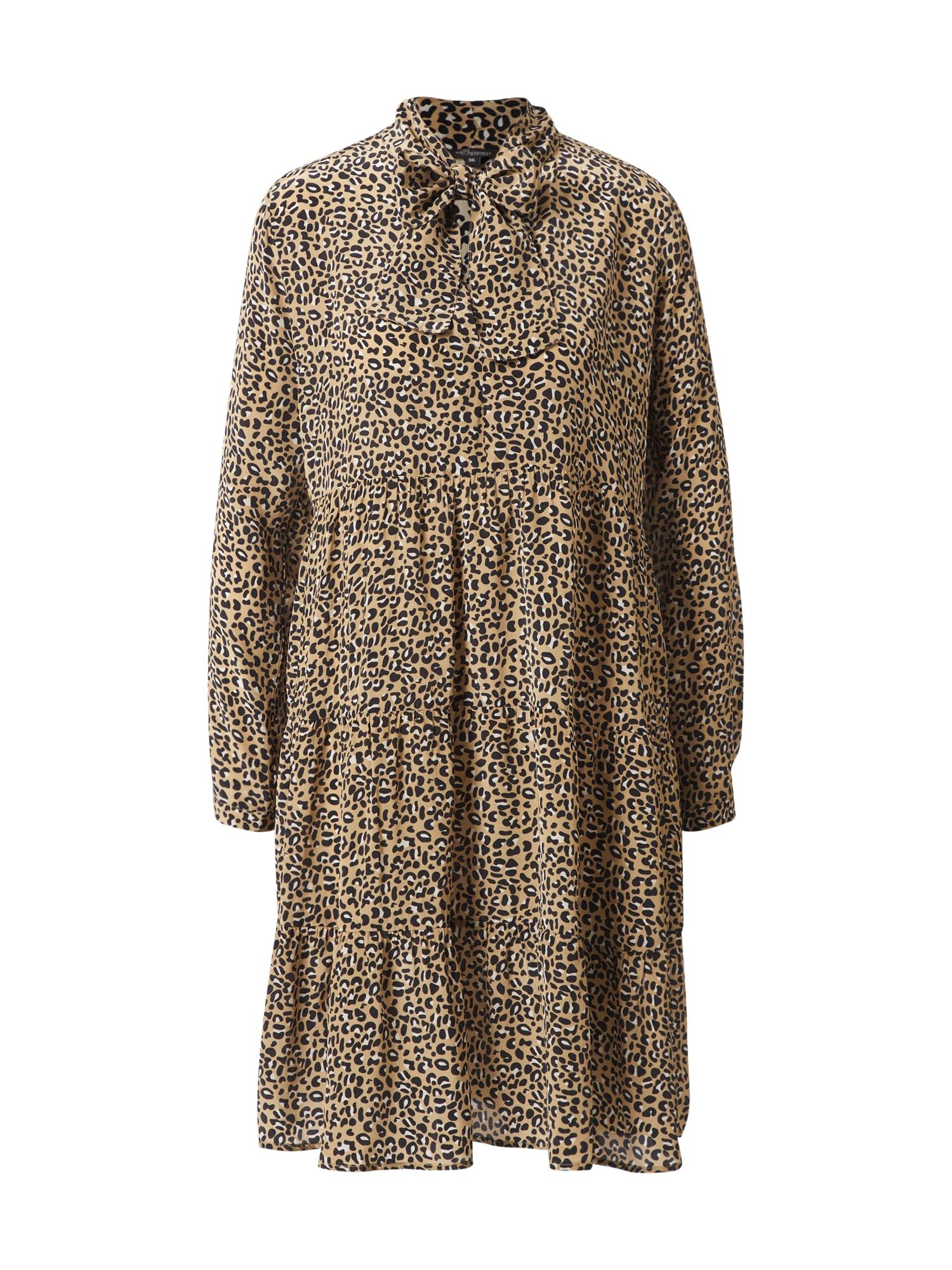 PRINCESS GOES HOLLYWOOD Palaidinės tipo suknelė gelsvai pilka spalva / balta / juoda