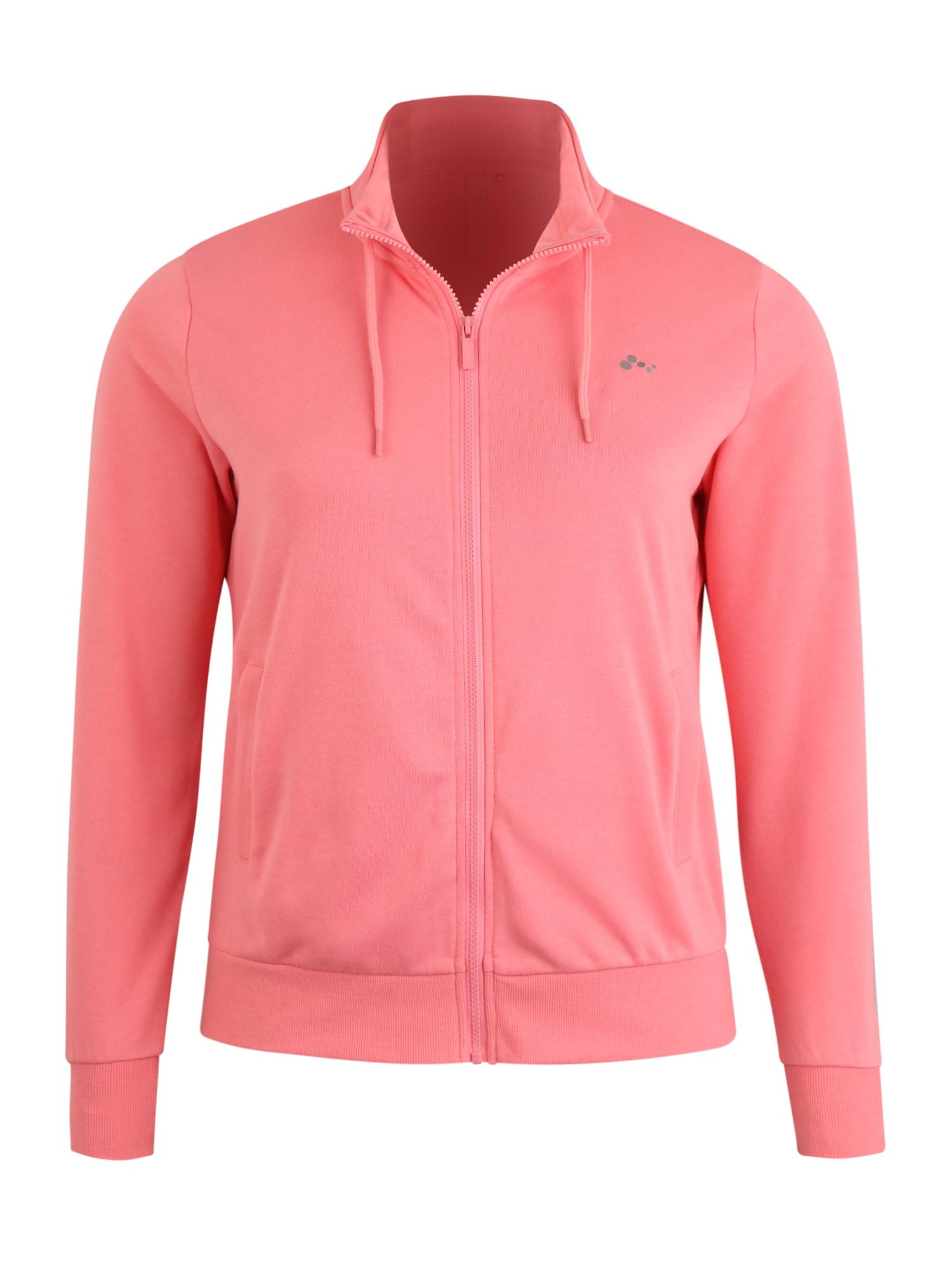 Only Play Curvy Sportinis džemperis 'Elina' ryškiai rožinė spalva