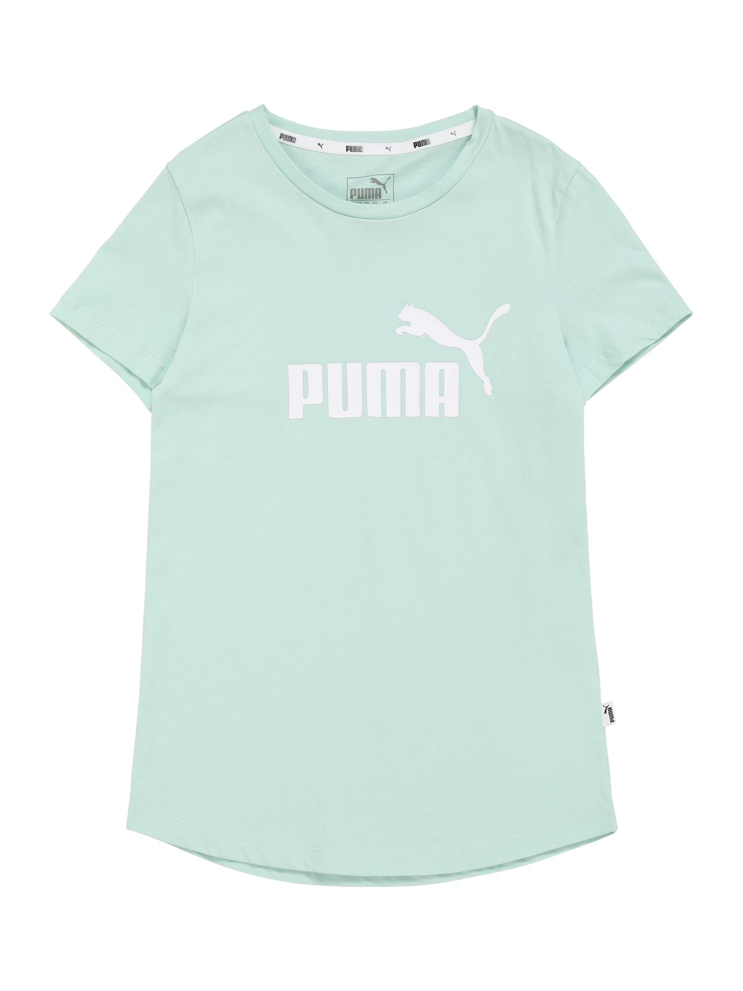 PUMA Tričko  biela / mätová