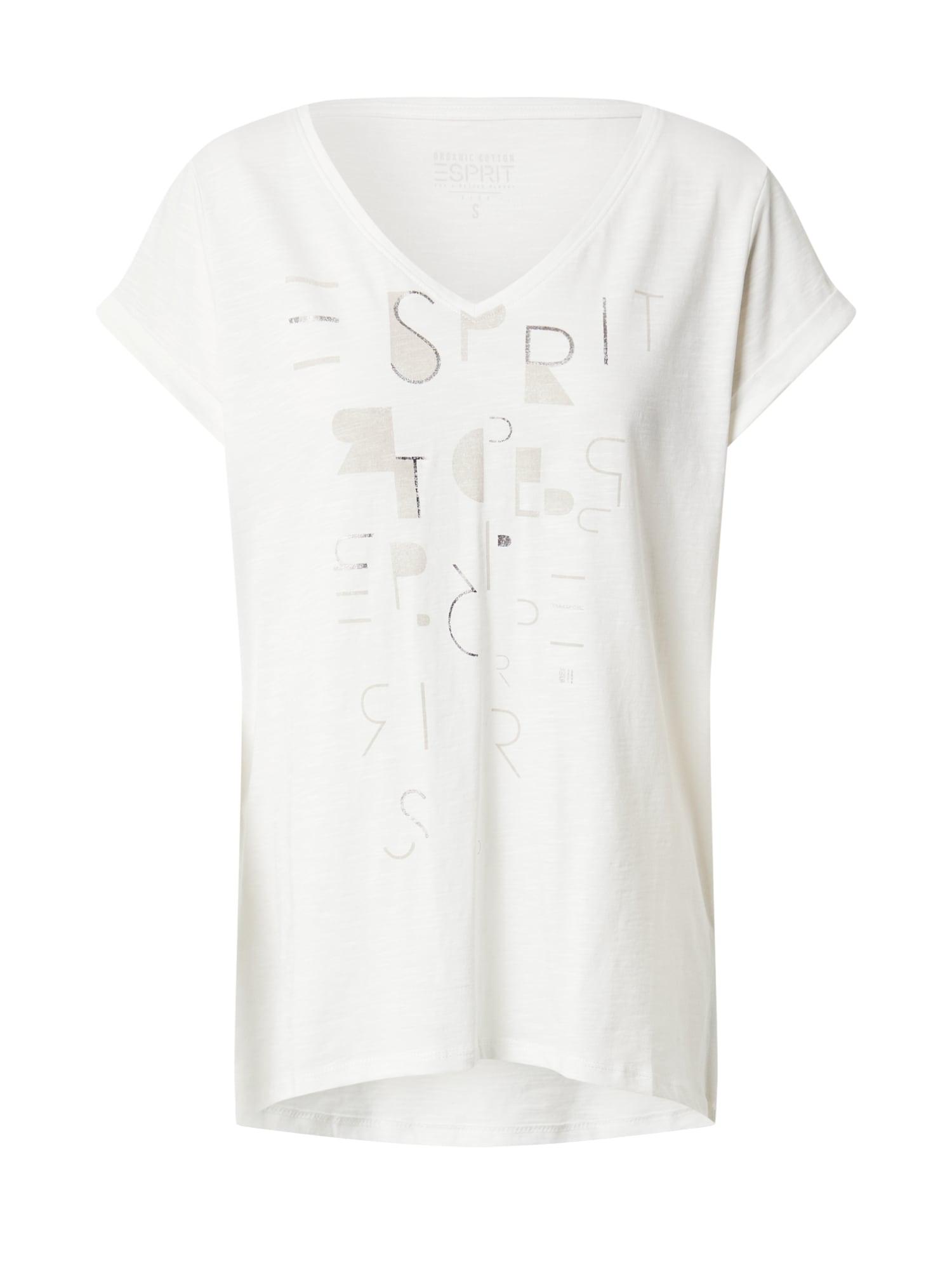 ESPRIT Tričko 'Core'  šedobiela