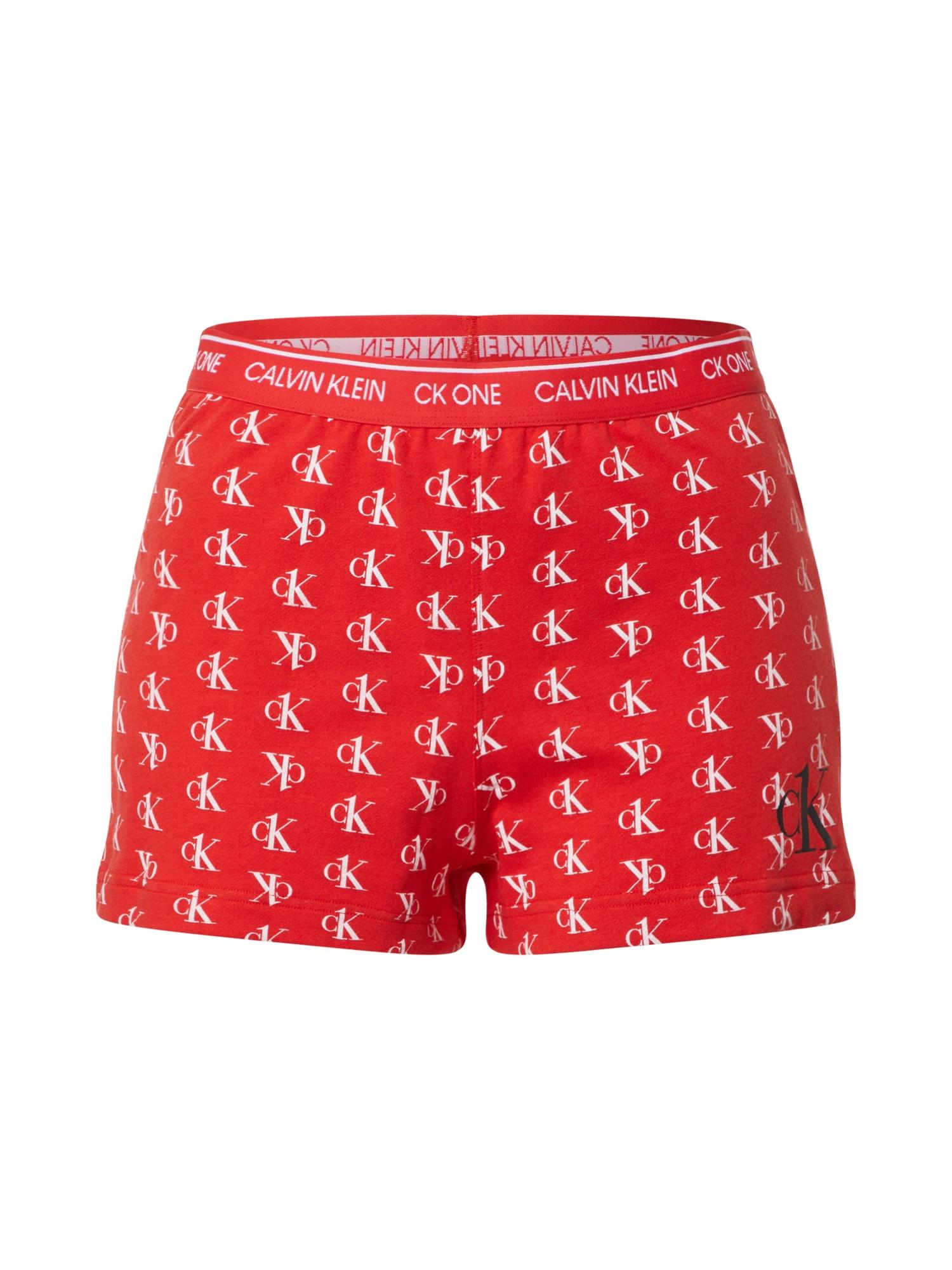 Calvin Klein Underwear Pižaminės kelnės raudona