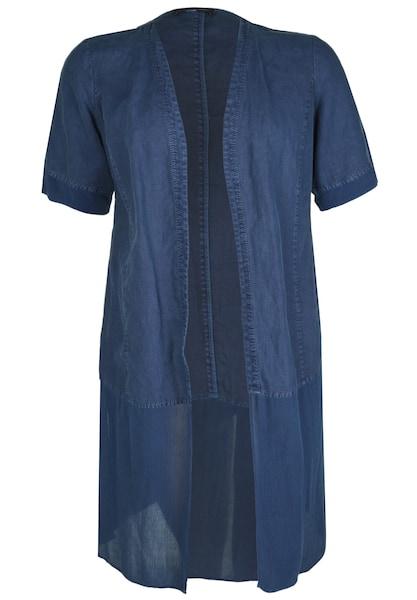 Jacken - Blusen Mantel Leinen Crinkle Patch › Doris Streich › blau  - Onlineshop ABOUT YOU