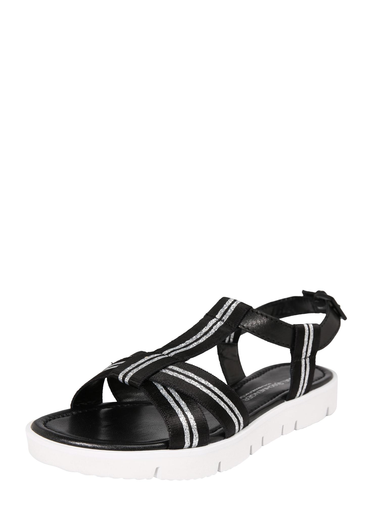 Sandály Elle X černá stříbrná Kennel & Schmenger