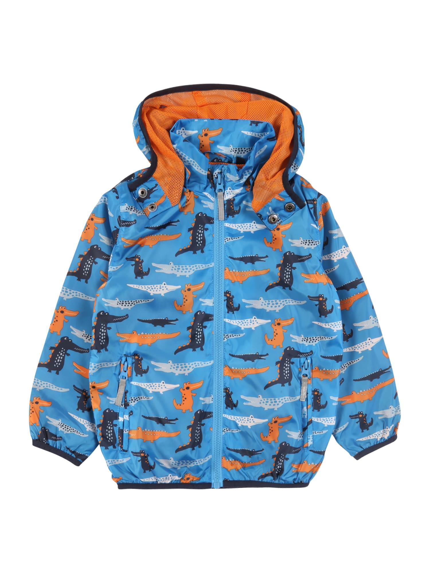 BLUE SEVEN Demisezoninė striukė mėlyna / oranžinė