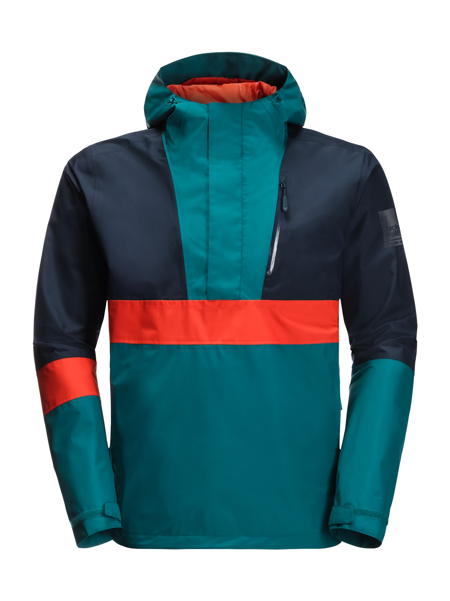 JACK WOLFSKIN Sportinė striukė '365 BOOSTER JACKET M' tamsiai mėlyna / benzino spalva / oranžinė
