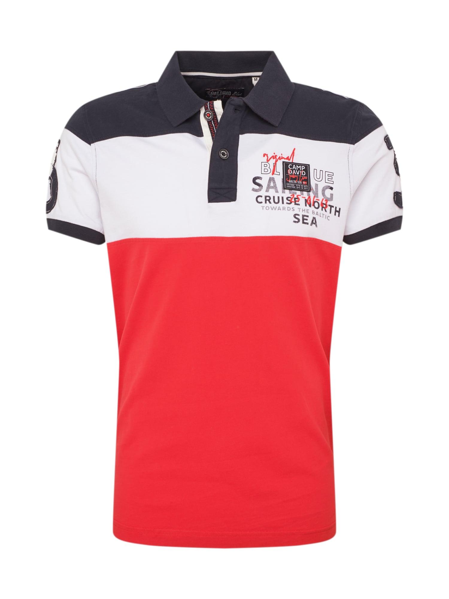 Tričko námořnická modř červená bílá CAMP DAVID