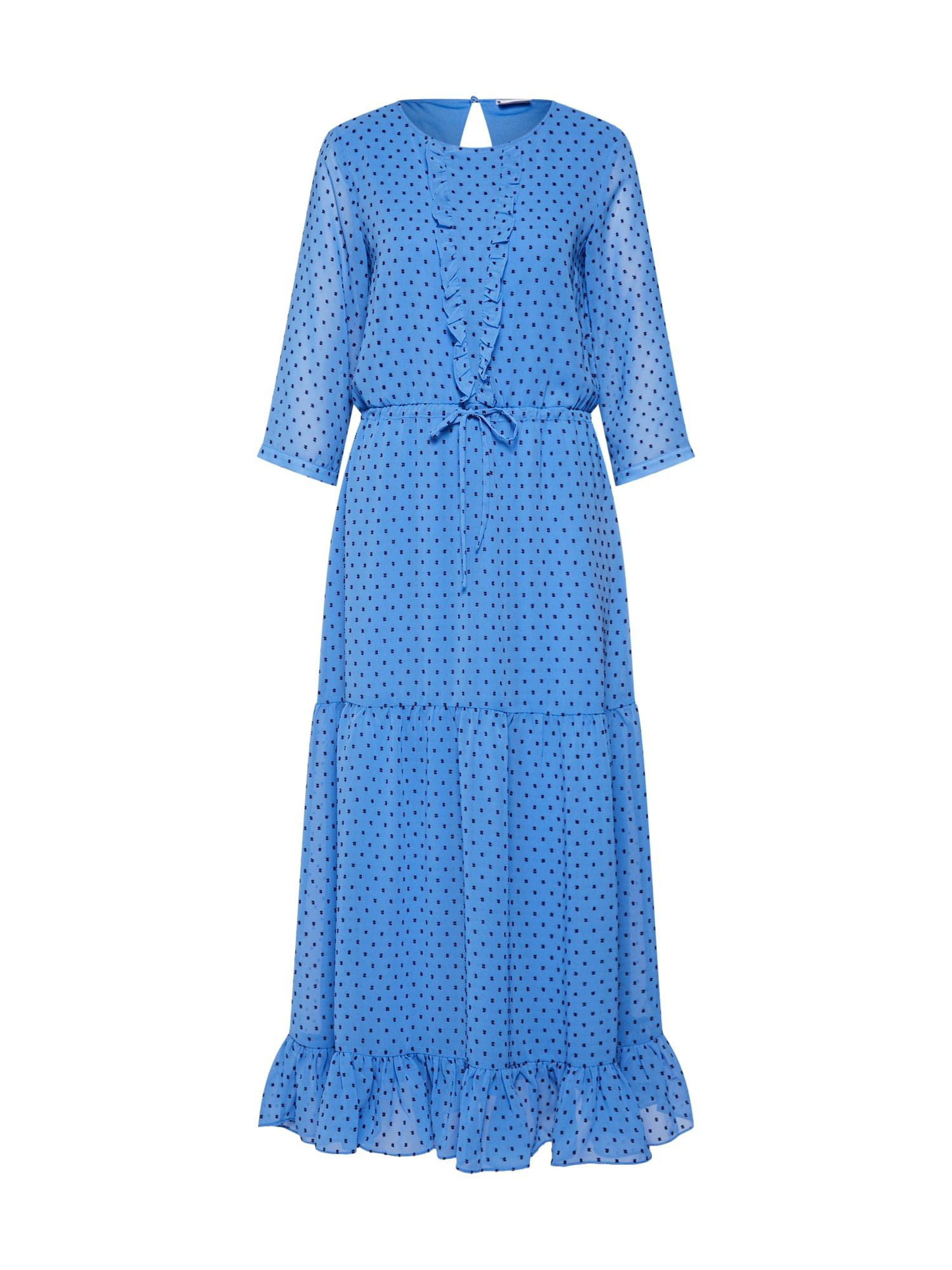 VILA Letní šaty  modrá