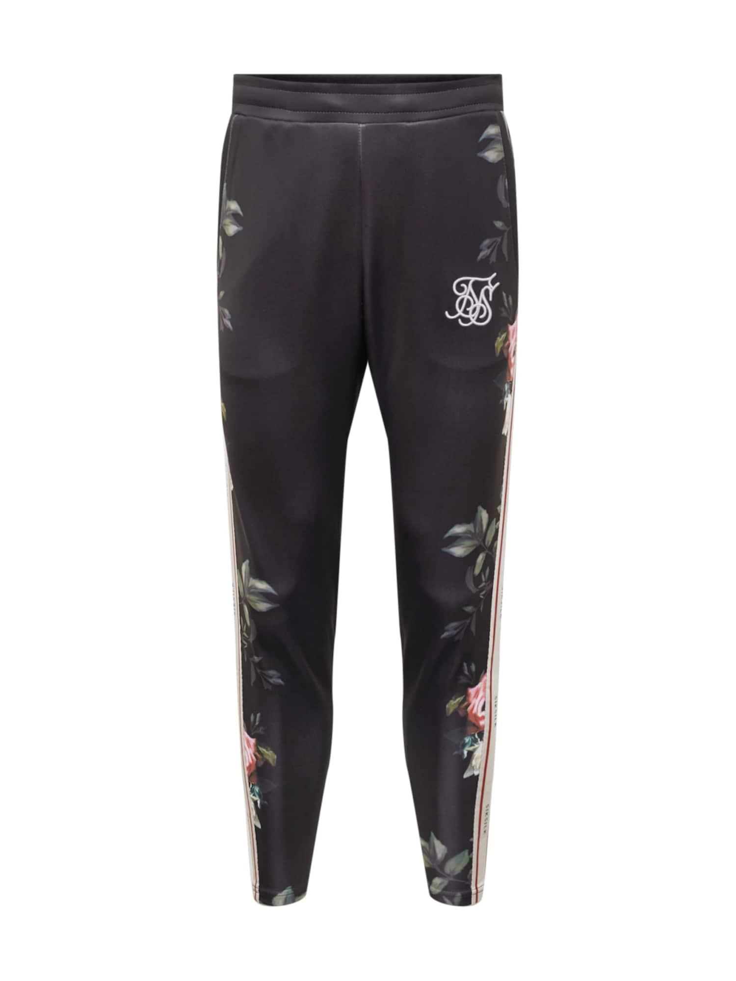 Kalhoty siksilk oil paint poly tricot cropped pants černá SikSilk