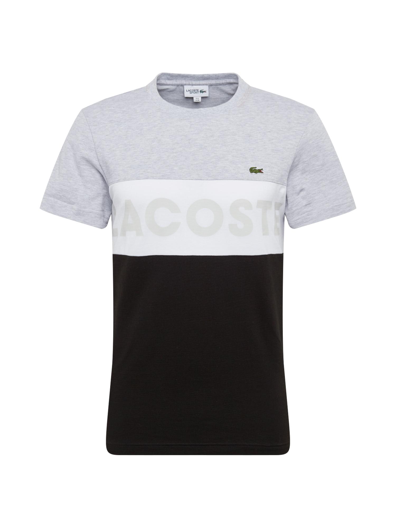 Tričko šedá černá bílá LACOSTE
