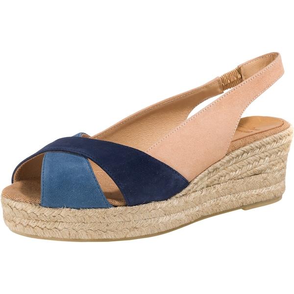 Sandalen für Frauen - Toni Pons Keilsandaletten hellbeige blau nachtblau  - Onlineshop ABOUT YOU