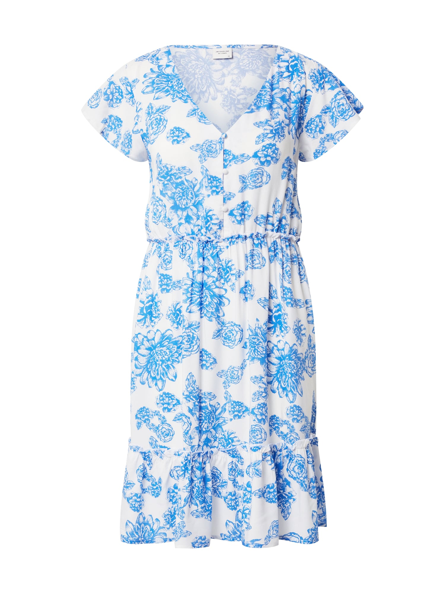 JACQUELINE de YONG Šaty 'JDYSTARR'  biela / modré