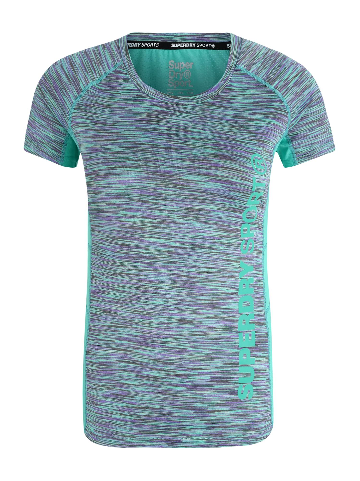 Funkční tričko aqua modrá šedá fialová Superdry