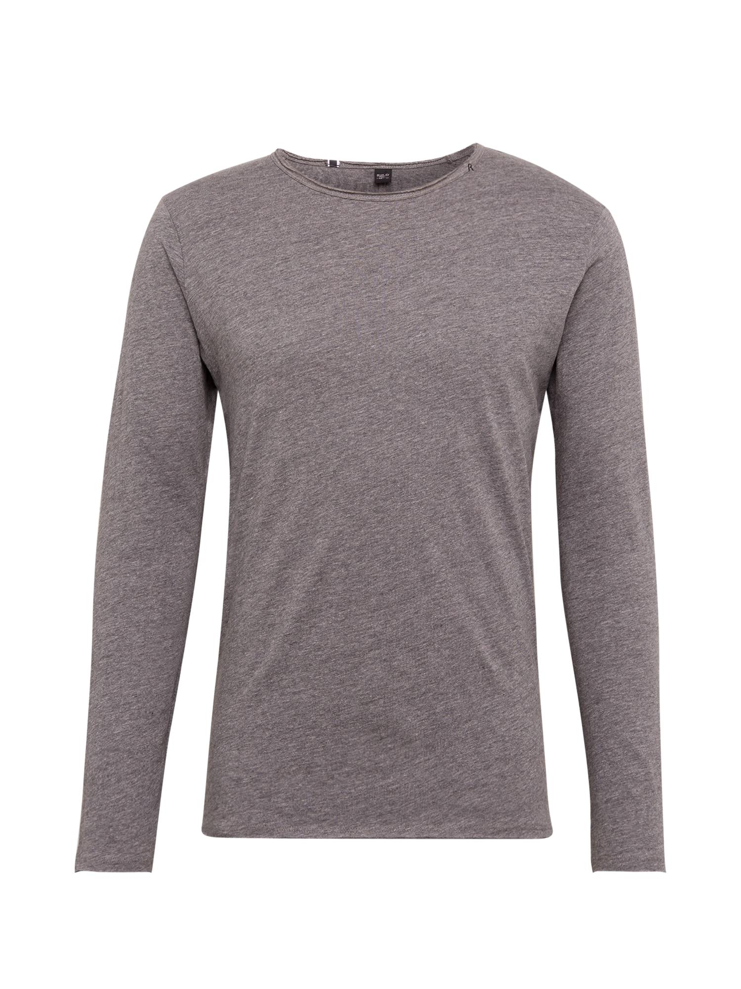 REPLAY Marškinėliai tamsiai pilka