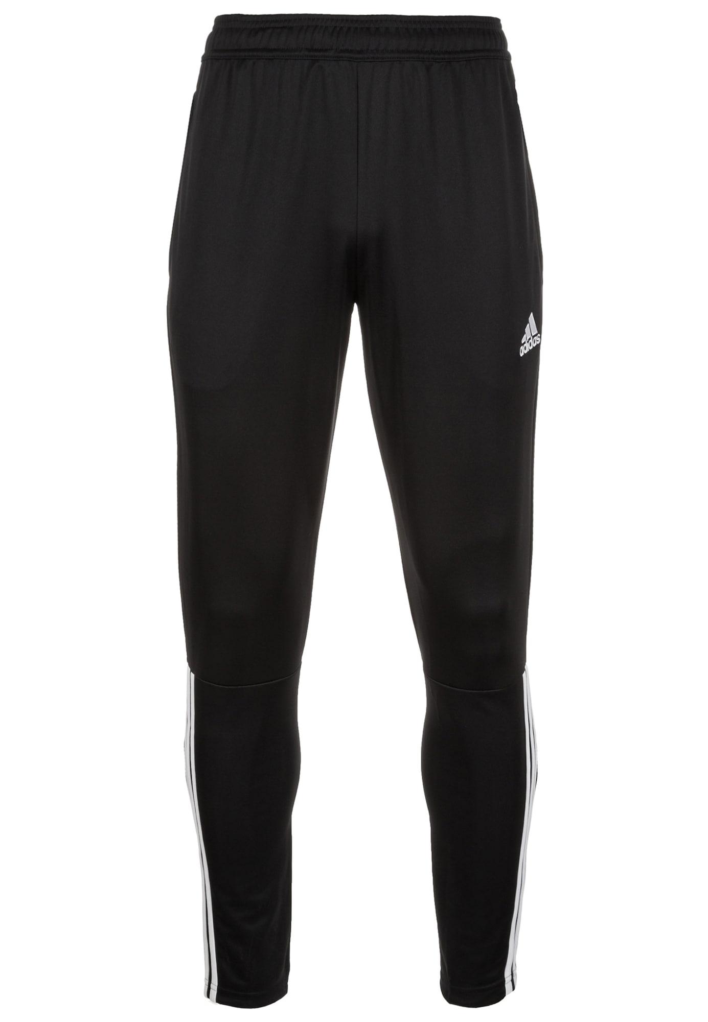ADIDAS PERFORMANCE Sportinės kelnės juoda / balta