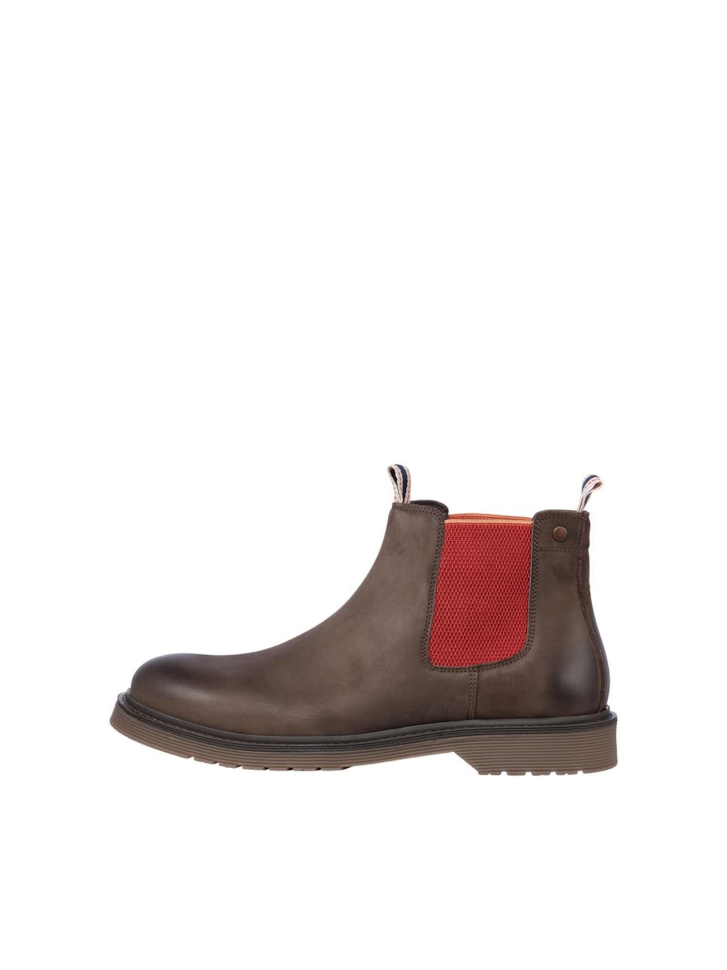 "JACK & JONES ""Chelsea"" batai margai ruda / raudona"