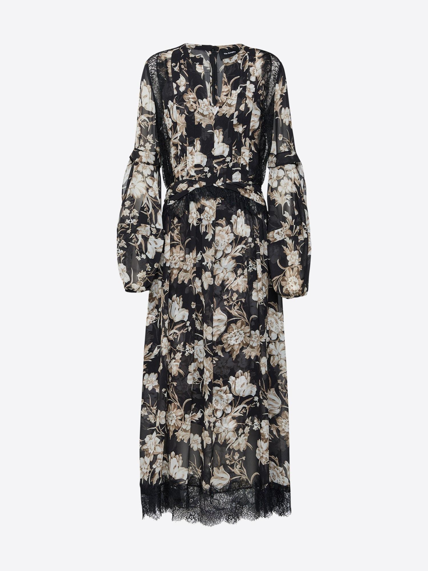 The Kooples Kleid schwarz / weiß - Schwarzes Kleid