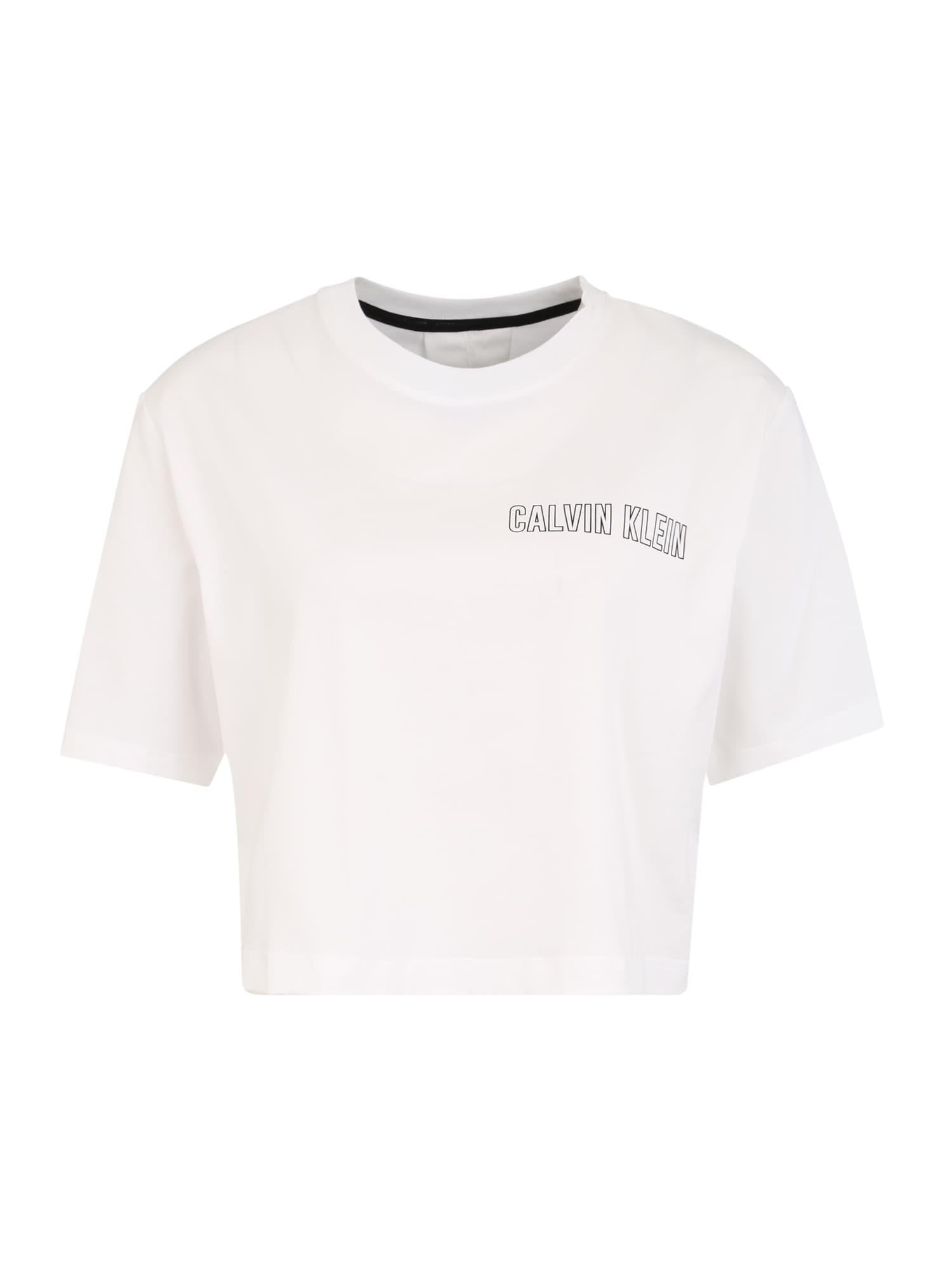 Calvin Klein Performance Sportiniai marškinėliai balta