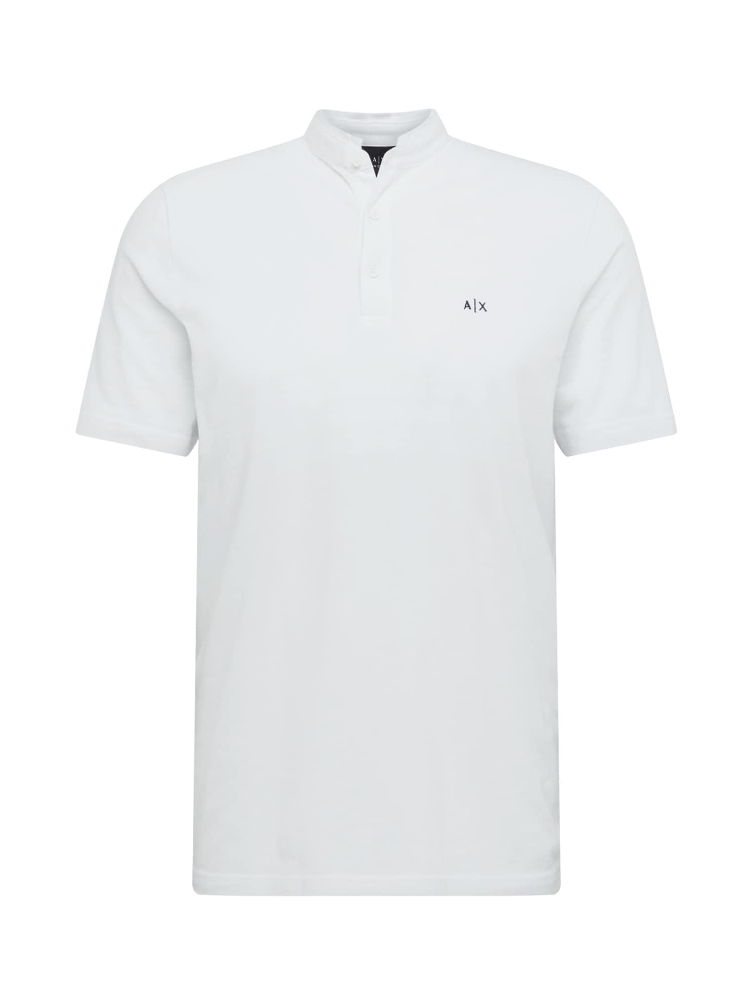 ARMANI EXCHANGE Marškinėliai '3HZFGM' juoda / balta