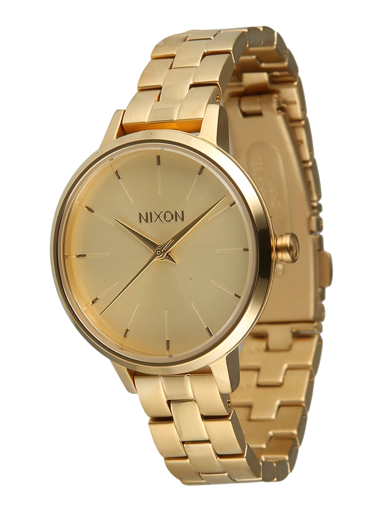 Analogové hodinky Medium Kensington zlatá Nixon