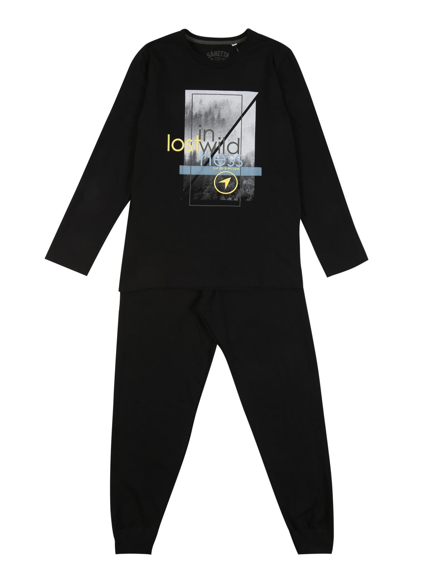 SANETTA Miego kostiumas juoda