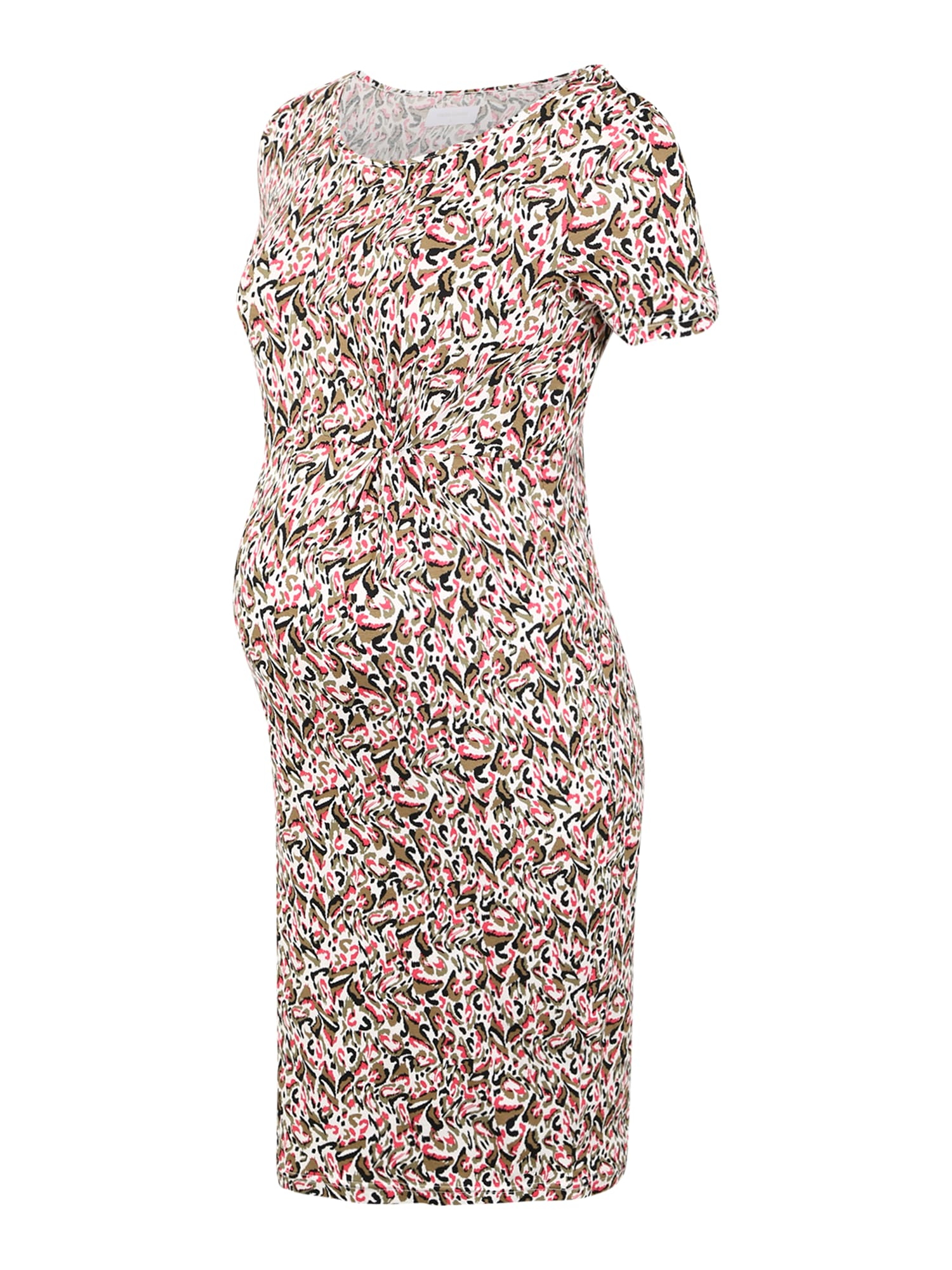 MAMALICIOUS Suknelė kremo / juoda / rožinė