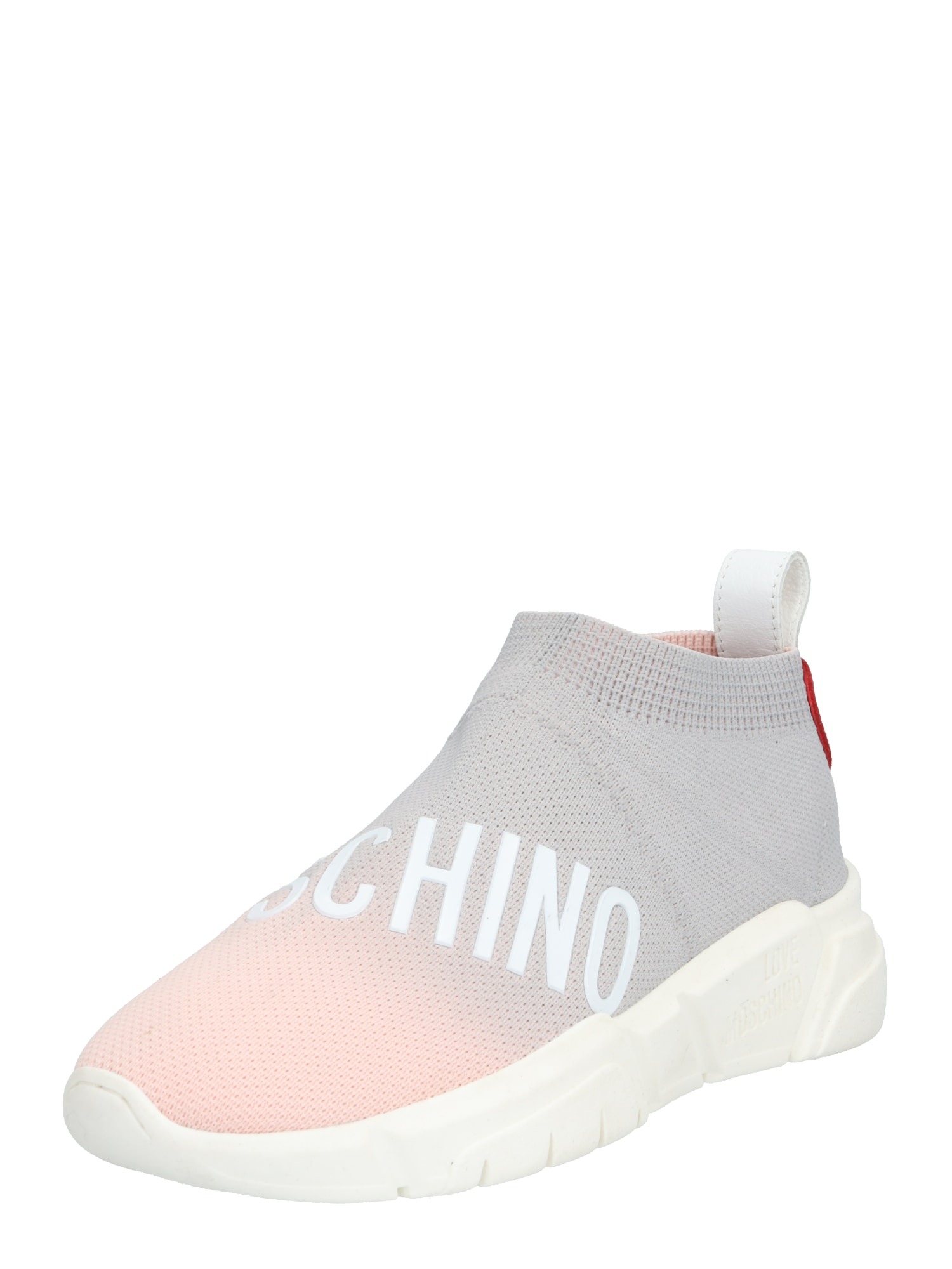 Love Moschino Nízke tenisky  ružová / sivá