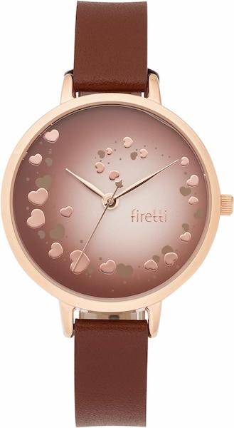 Uhren für Frauen - FIRETTI Quarzuhr braun rosegold  - Onlineshop ABOUT YOU