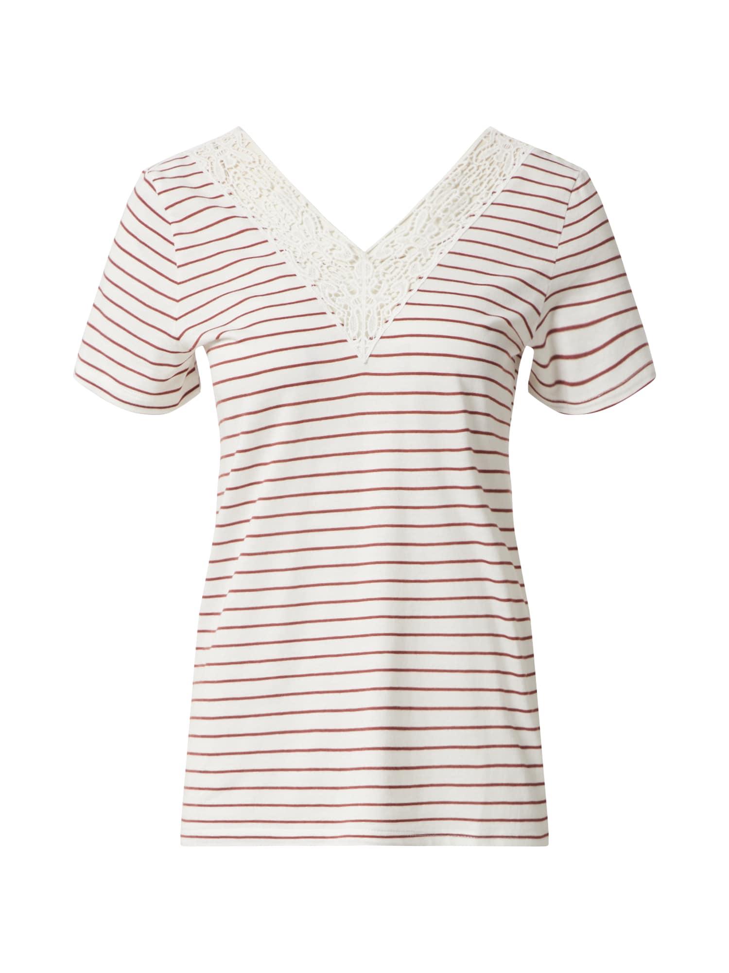 VERO MODA Tričko 'VMHELA'  červené / biela