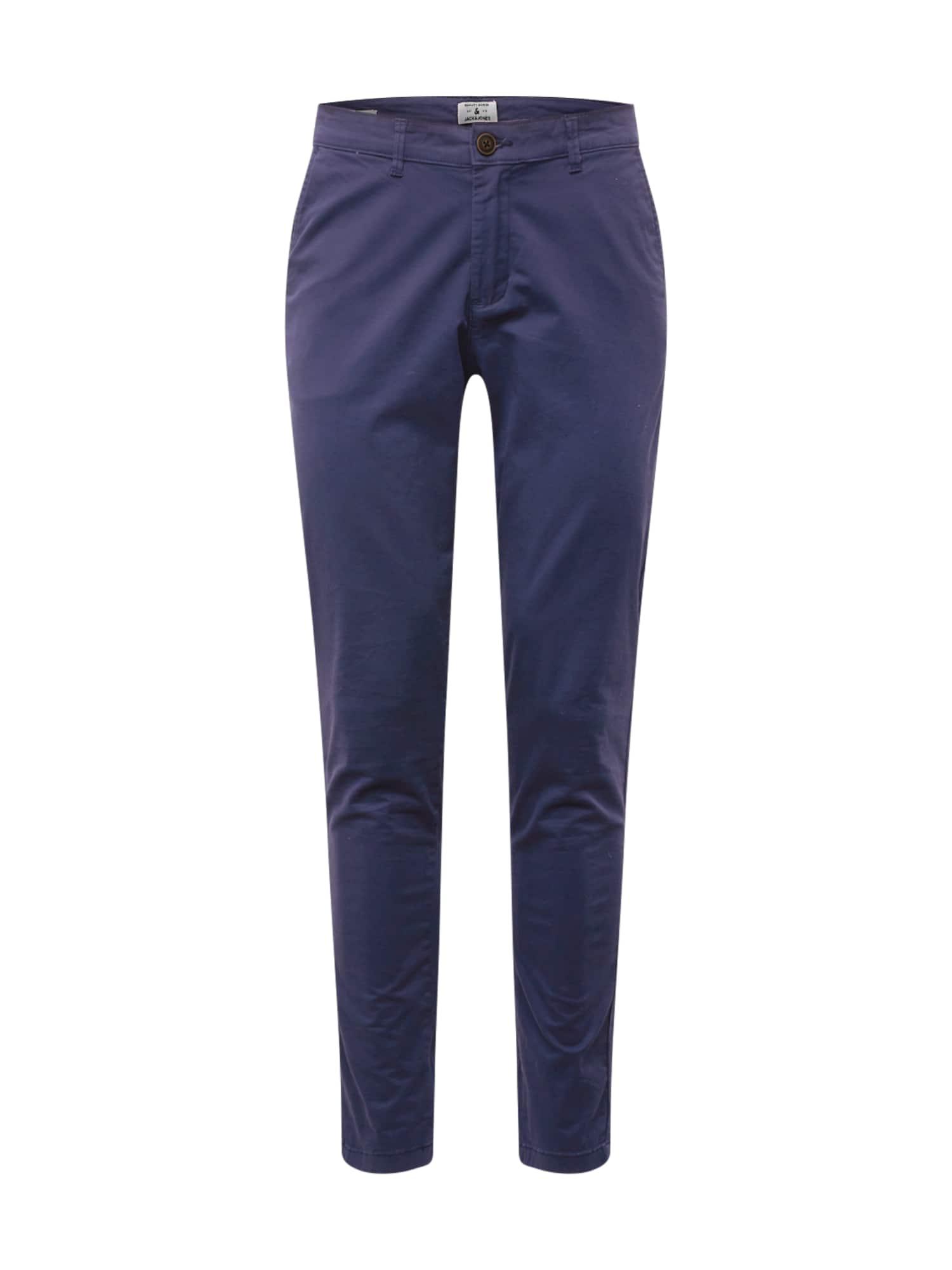 JACK & JONES Chino kalhoty 'Marco Dave'  námořnická modř