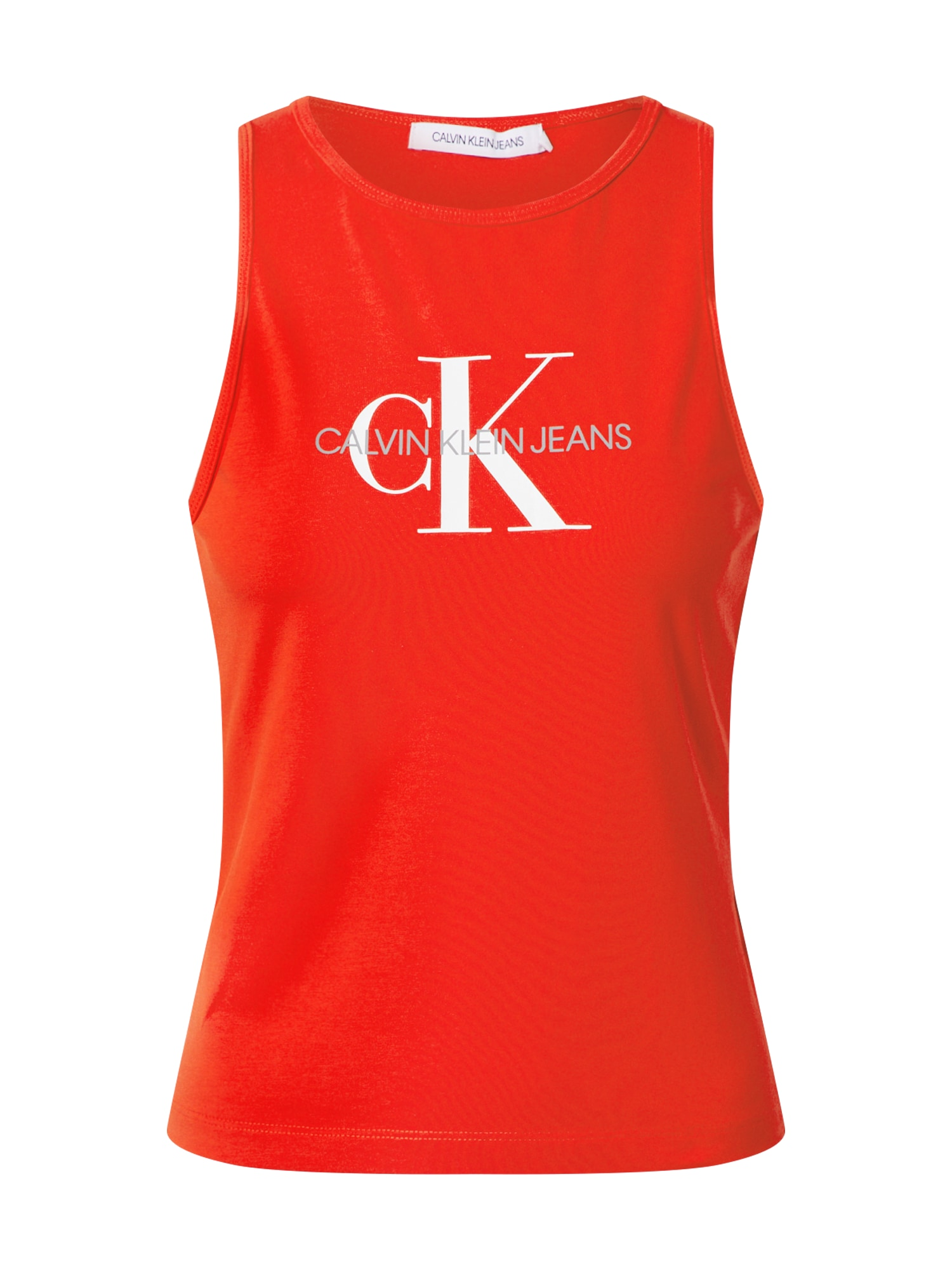 Calvin Klein Jeans Top 'MONOGRAM STRETCH SPORTY TANK'  červené