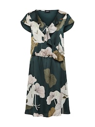 OBJECT Damen Kleid PANTHEON grün,weiß | 05713781941084