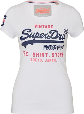 Superdry T-Shirt mit Label-Print 'Shop'